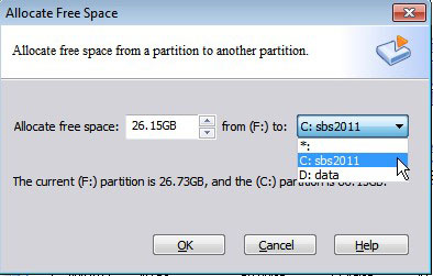 Shrink and extend partition
